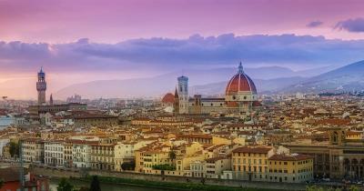 Florenz - sommerlicher Blick auf die Stadt