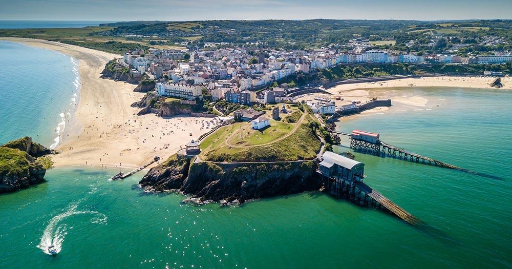 Pembrokeshire - Blick vom Meer