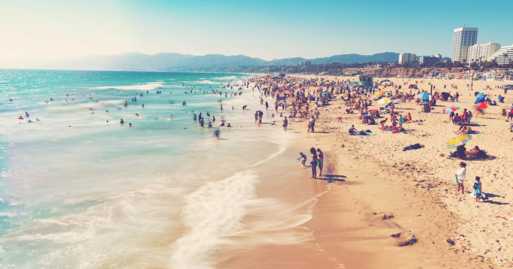 Santa Monica - Strand am blauen Meer