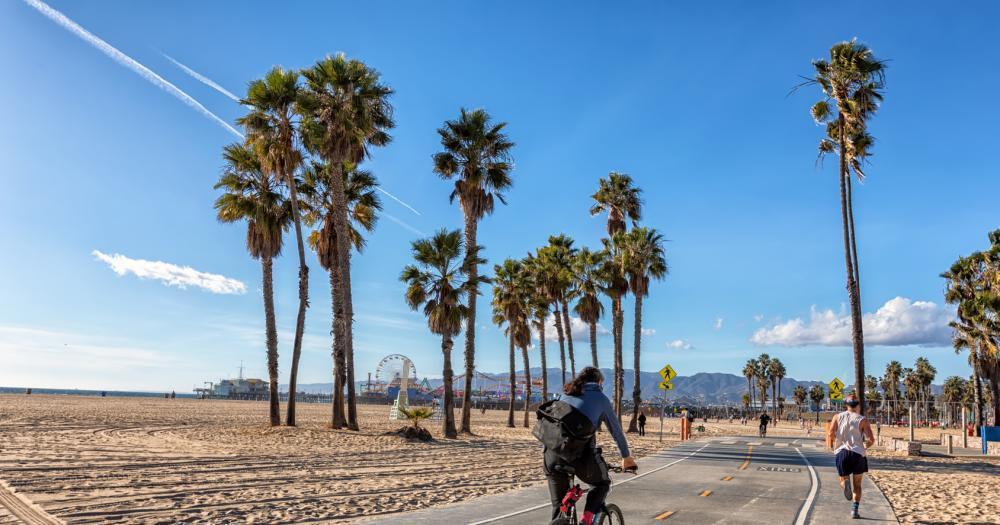 Santa Monica - Sport unter Palmen