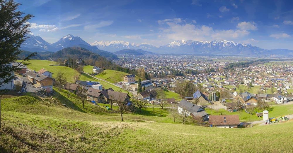 Liechtenstein - Blick ins Rheintal
