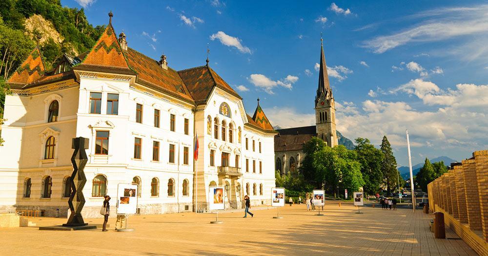 Liechtenstein - Hauptplatz