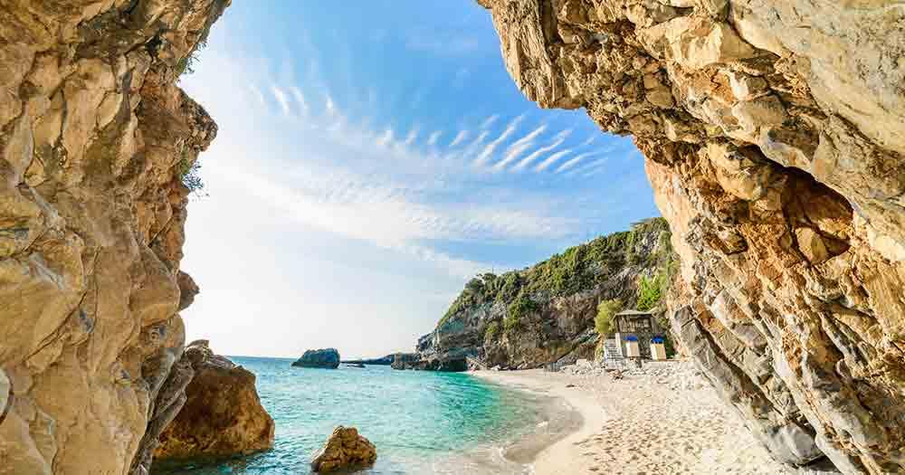 Korfu - Blick auf den traumhaften Strand