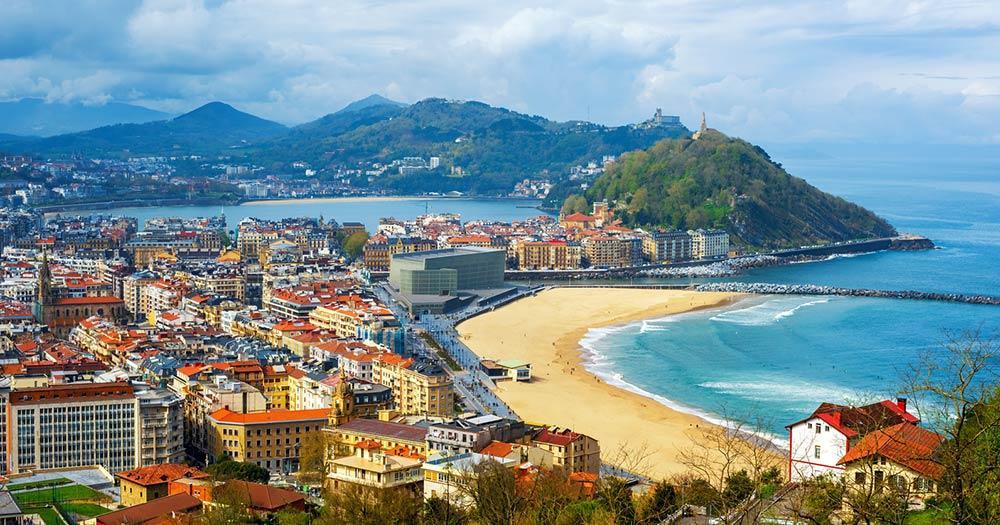 San Sebastian - Blick auf den Strand
