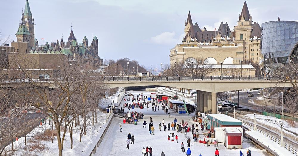 Ottawa - Rideau Canal im Winter