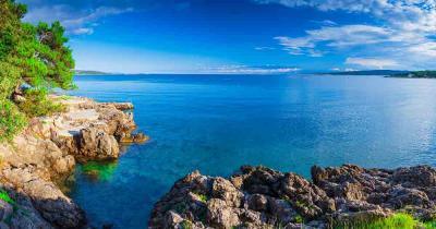 Krk - traumhafter ausblick auf das Meer