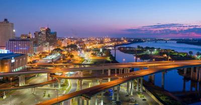 Memphis - Abendlicher Blick auf die Stadt