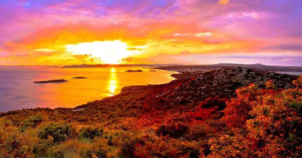Galesnjak - Ausblick aufs Meer