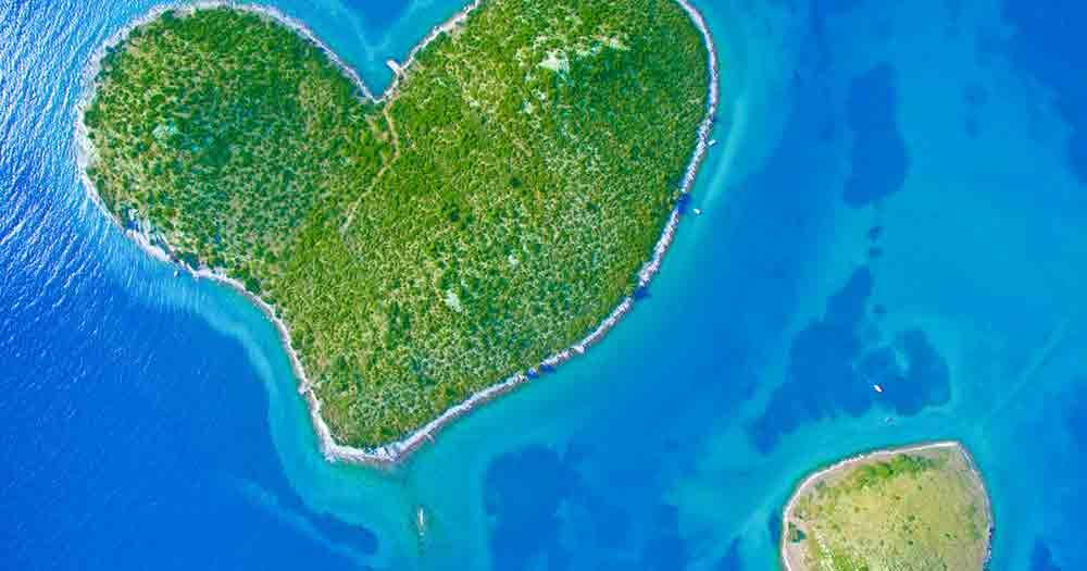 Galesnjak - Insel in Herzform