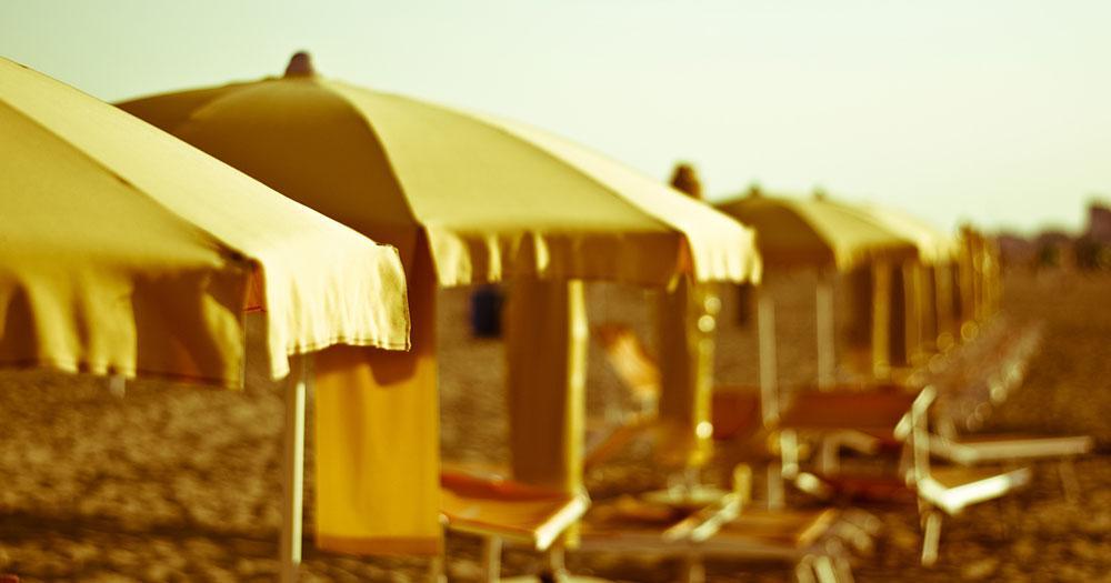 Bibione - Strand Schirme