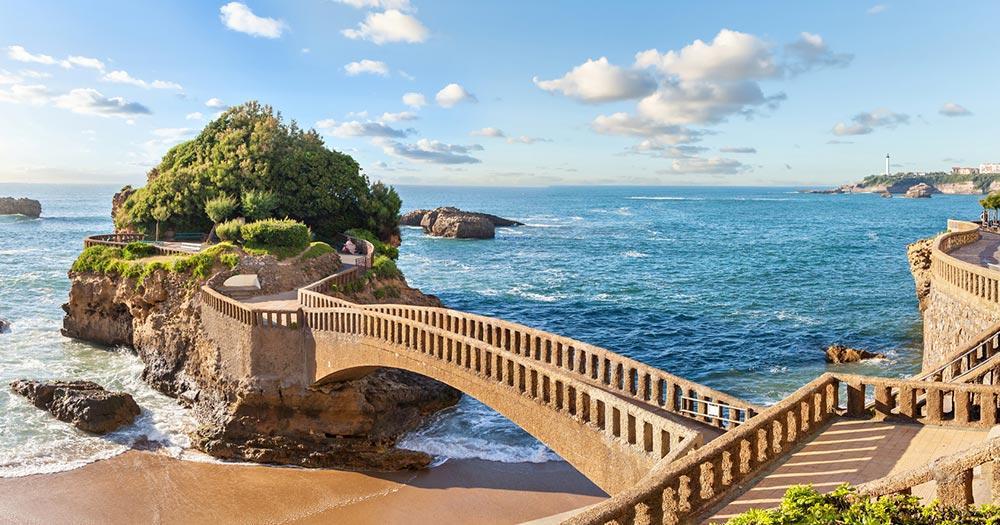 Biarritz - Brücke auf die Insel