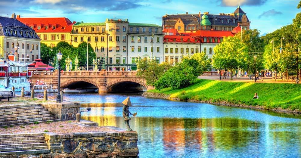Göteborg - Kanal ins Stadtzentrum
