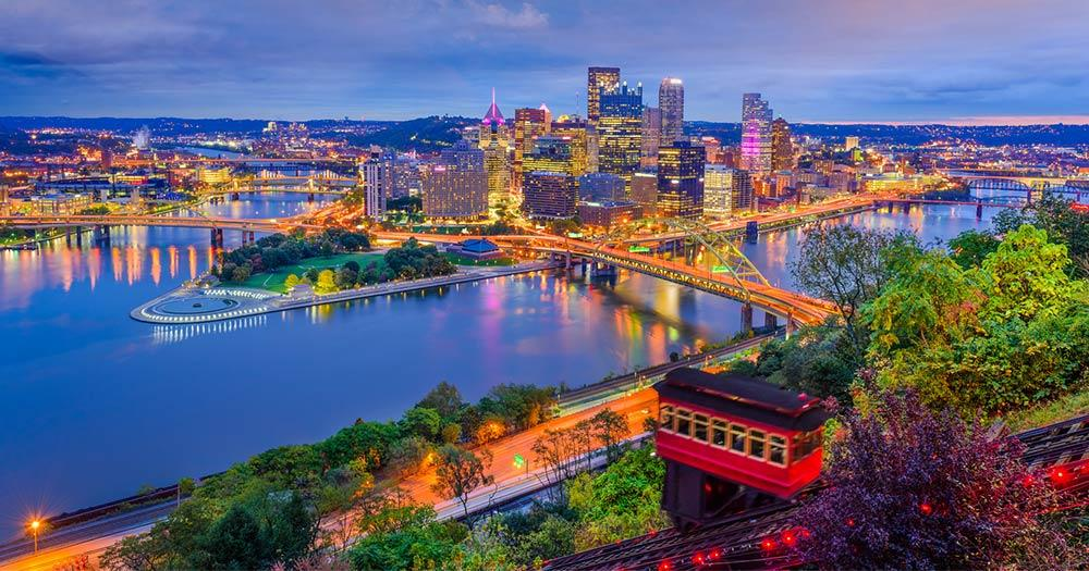 Pittsburgh - Panorama am Abend