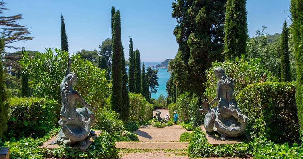 Lloret de mar - Santa Clotilde Garten 2 Statuen
