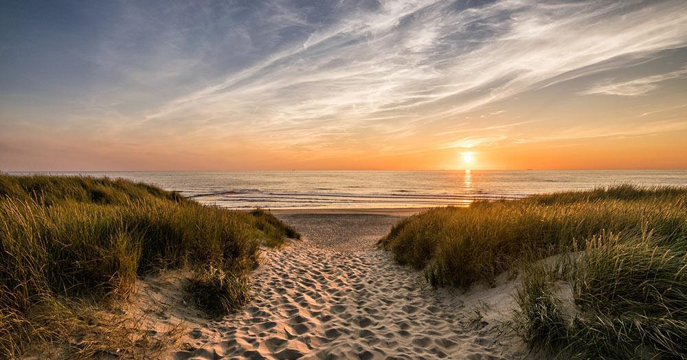 Texel - Sonnenuntergang am Strand