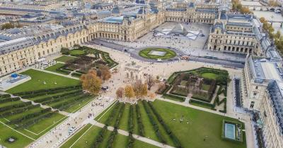 Musée du Louvre - Vogelperspektive