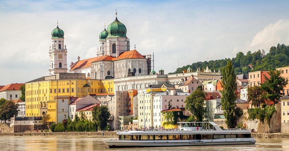 Passau - Blick vom Fluss