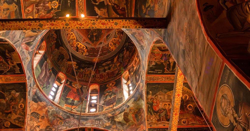 Meteora -  Varlaam Kloster von innen