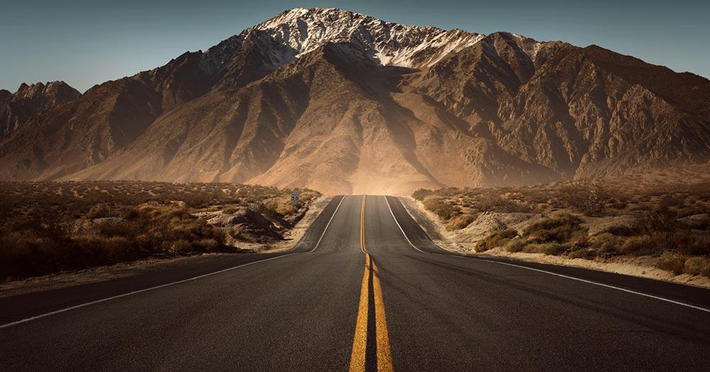 Route 66 - Straße ins Gebirge