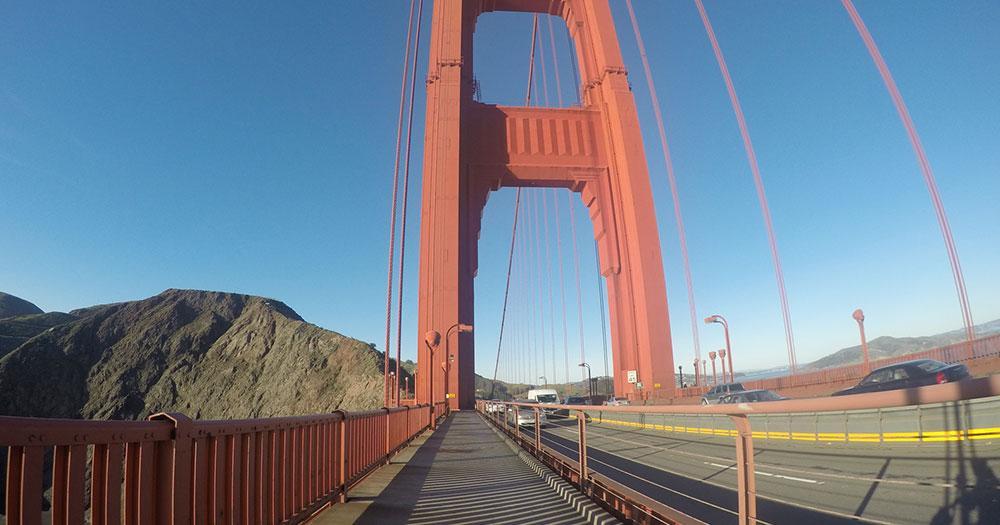 Golden Gate Bridge - auf der Brücke