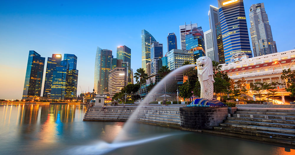 Singapur - Merlion Fountain