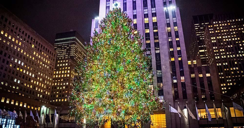 Schlittschuhlaufen am Rockefeller Center - Weihnachtsbaum