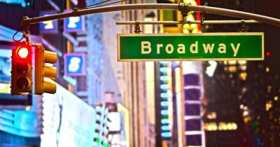 Broadway-Shows - Straßenschild