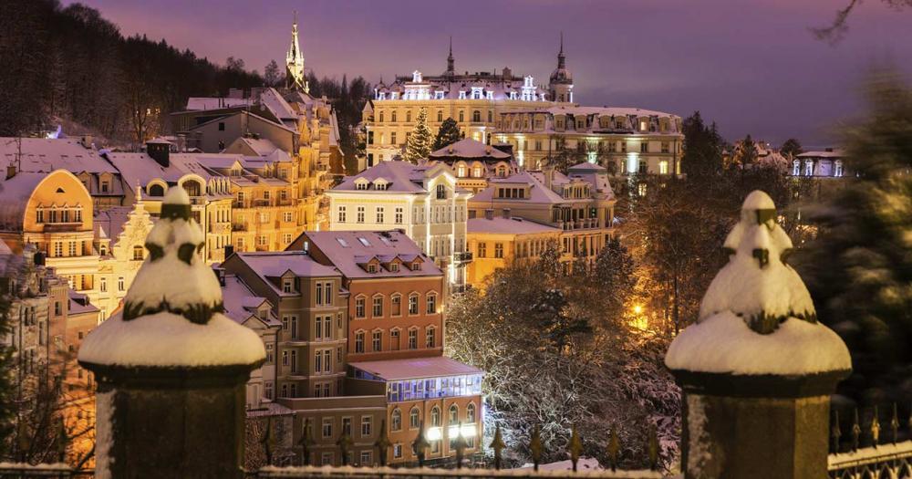 Karlsbad - Winterpanorama
