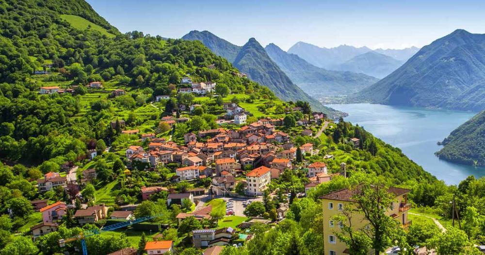 Lugano - Blick auf den See
