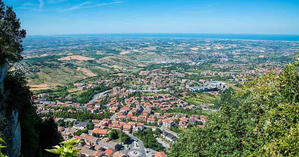 San Marino - Panoramablick