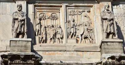Palatin - Relief am Bongen von Constantin