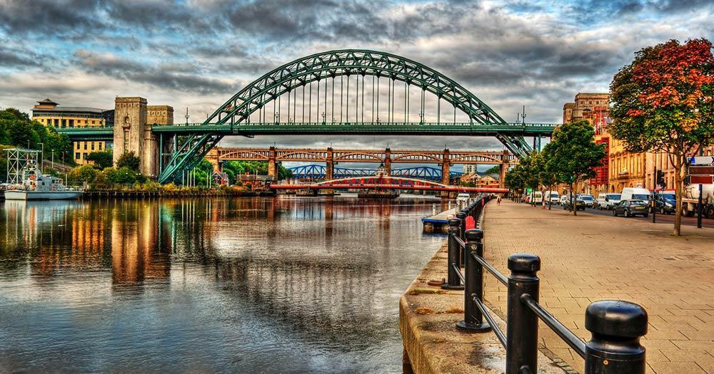 Newcastle upon Tyne - Blick auf die Brücke