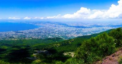 Vesuv - Blick auf Neapel