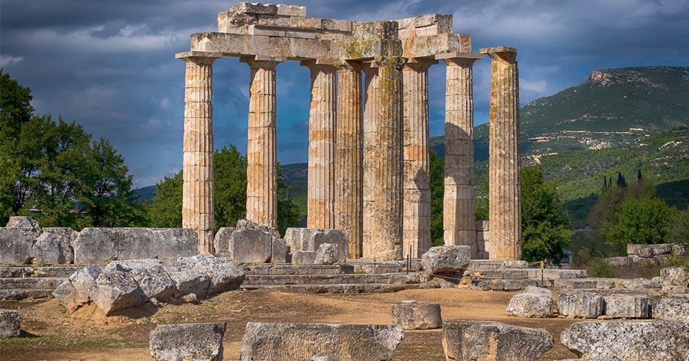 Peloponnes - Zeus Tempel von Nemea