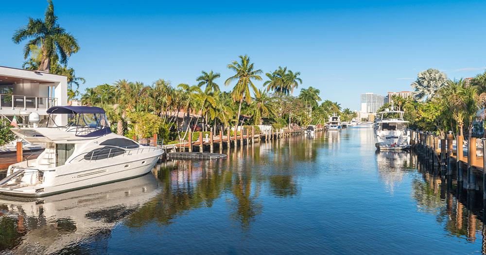 Fort Lauderdale - Mit der Yacht direkt zur Villa