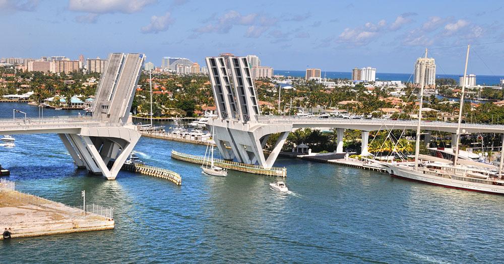 Fort Lauderdale - Die Einfahrt zum Hafen