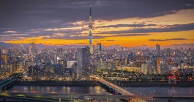 Edo-Tokyo-Museum - nächtliche Skyline