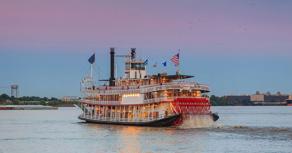 New Orleans - Schaufelraddampfer auf dem Mississippi River