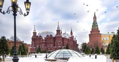 Roter Platz - winterlicher Blick auf den Platz