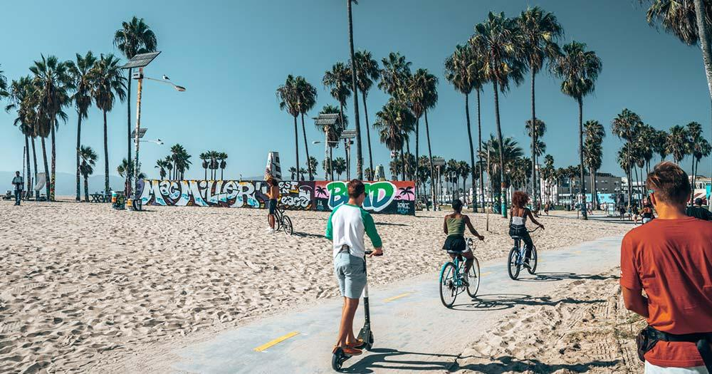 Venice Beach - Freizeitsportler am Strand