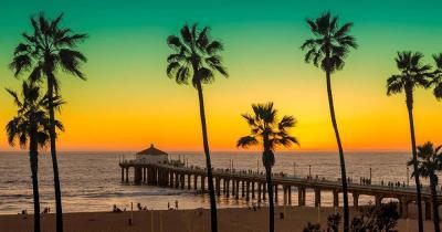 Venice Beach - Manhatten Beach im Sonnenuntergang