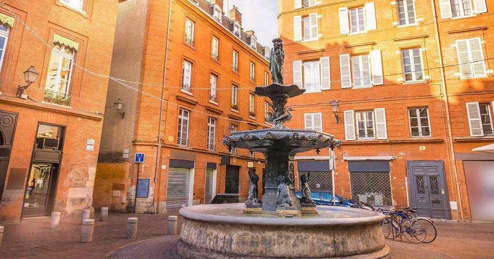 Toulouse - Springbrunnen