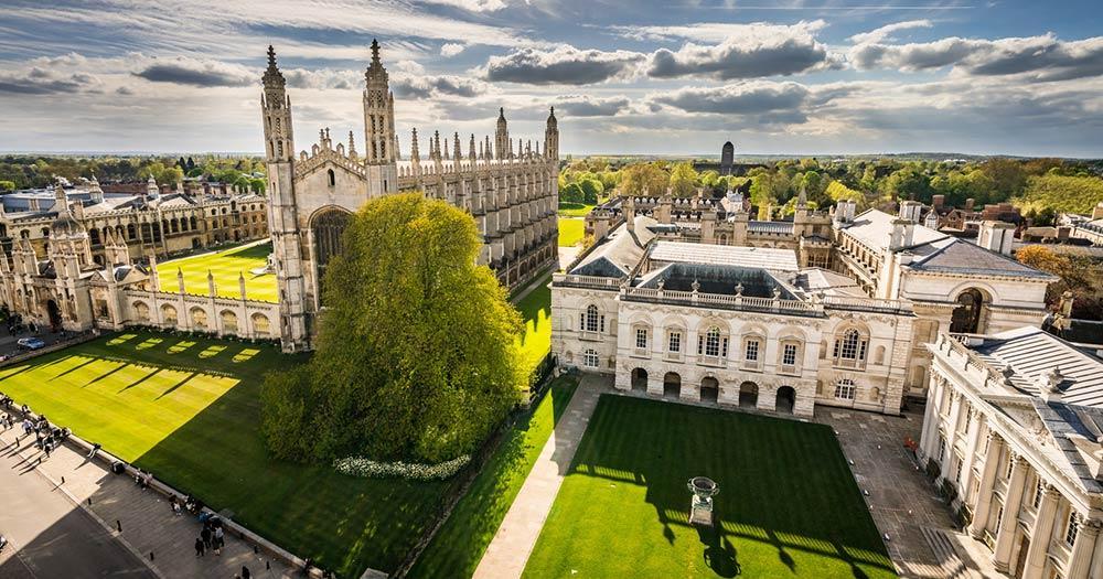 Cambridge - Luftaufnahme