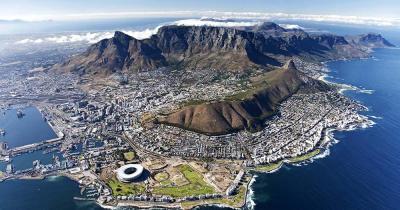 Tafelberg - Luftaufnahme von Capetown